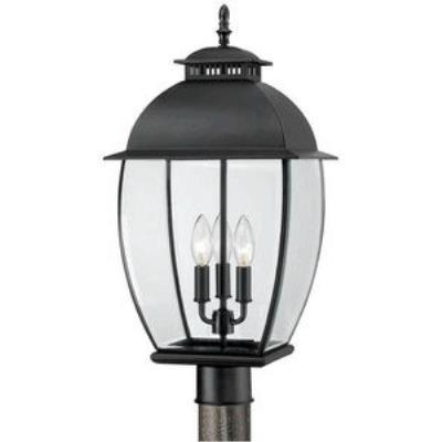 Quoizel Lighting BAN9011K Bain - Three Light Post