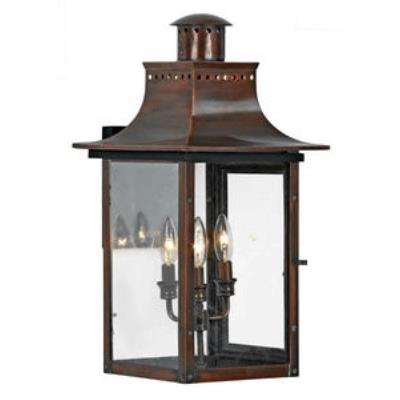 Quoizel Lighting CM8412AC Chalmers - Three Light Wall Lantern