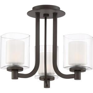 Kolt - Three Light Semi-Flush Mount