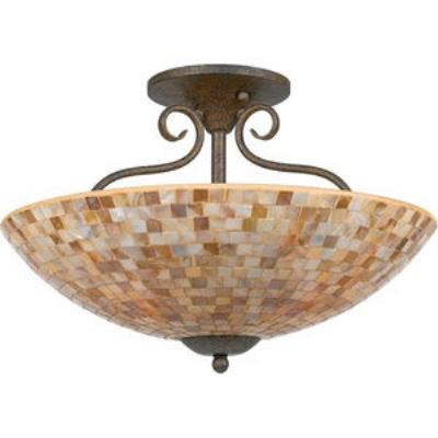 Quoizel Lighting MY1718 Monterey Mosaic - Four Light Semi-Flush Mount