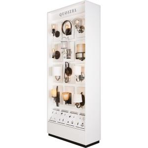 """Quoizel - 96"""" Two Side Wall Sconce Display"""