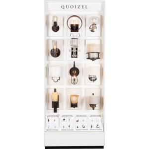 """Quoizel - 96"""" One Side Wall Sconce Display"""