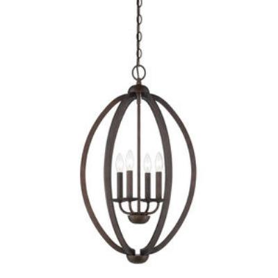 Quoizel Lighting QF1402CMU Collins - Four Light Cage Chandelier