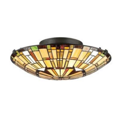 Quoizel Lighting TF1408SVB Reed - Two Light Semi-Flush Mount