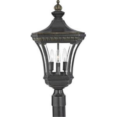 Quoizel Lighting DE9256IB Devon - Three Light Medium Post Lantern