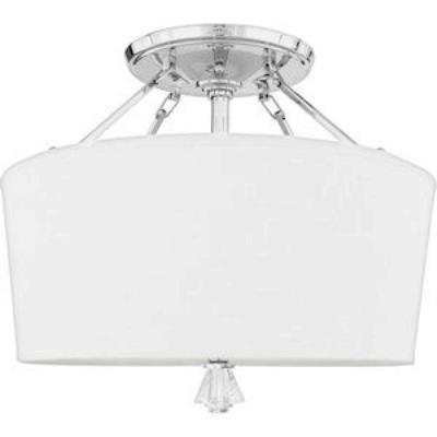 Quoizel Lighting DX1718C Deluxe - Three Light Extra Large Semi Flush Mount