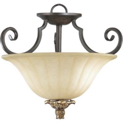 Quorum Lighting 2801-15-44 Capella - Two Light Semi-Flush Mount