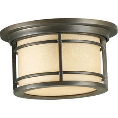 Quorum Lighting 3916-11-86 Larson - One Light Outdoor Flush Mount