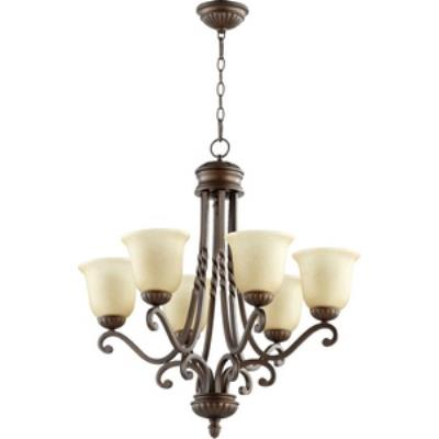 Quorum Lighting 6078-6-186 Tribeca II - Six Light Chandelier