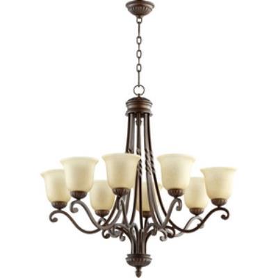 Quorum Lighting 6078-8-186 Tribeca II - Eight Light Chandelier