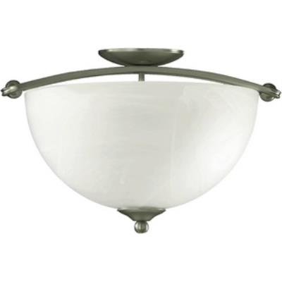 Quorum Lighting 622-17-65 Hemisphere - Three Light Semi-Flush