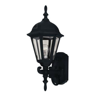 Savoy House 07076-BLK One Light Outdoor Wall Lantern