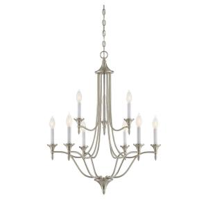 "Herndon - 35"" Nine Light 2-Tier Chandelier"