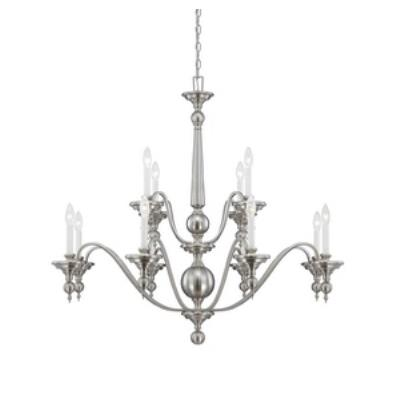 Savoy House 1-1728-12-SN Sutton Place - Twelve Light Chandelier