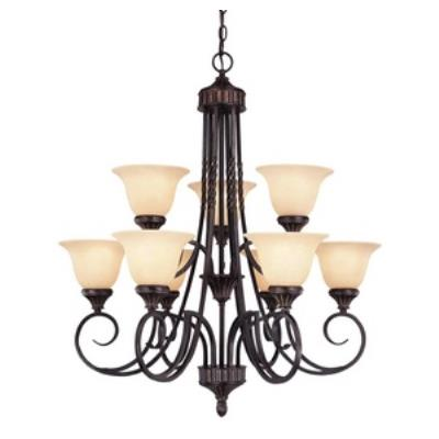 Savoy House 1P-5591-9-16 Legend - Nine Light Chandelier