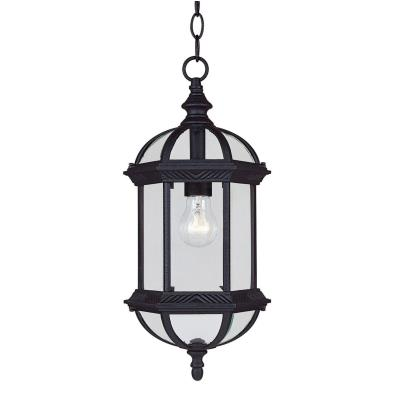 Savoy House 5-0631-BK Kensington - One Light Outdoor Hanging Lantern