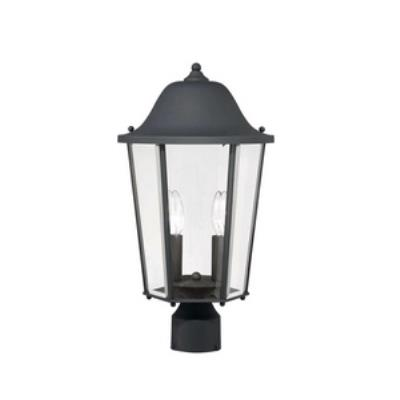 Savoy House 5-6214-BK Truscott - Two Light Outdoor Post Lantern