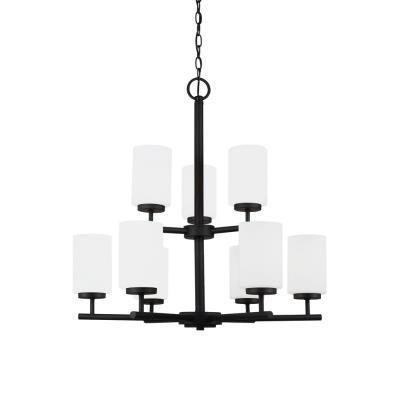 Sea Gull Lighting 31162BLE-839 Oslo - Nine Light Chandelier
