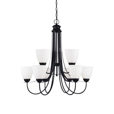 Sea Gull Lighting 31272-839 Uptown - Nine Light 2-Tier Chandelier