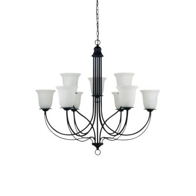 Sea Gull Lighting 31293-839 Plymouth - Nine Light 2-Tier Chandelier
