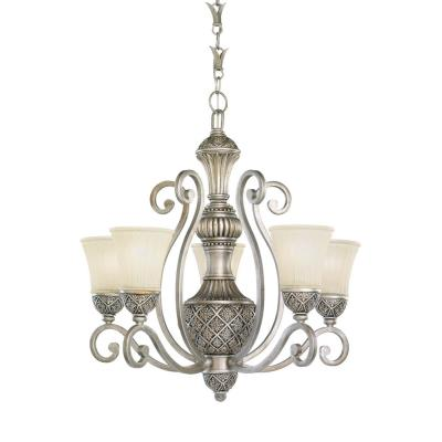 Sea Gull Lighting 31751-824 Five-light Highlands Chandelier With Glass