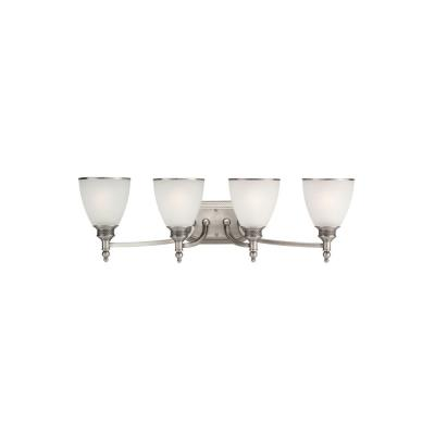 Sea Gull Lighting 44352-965 Four Light Antique Brushed Nickel Wall Light