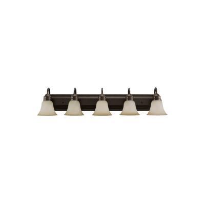 Sea Gull Lighting 44854-782 Gladstone - Five Light Bath Bar