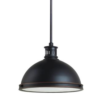 "Sea Gull Lighting 65086BLE-715 Pratt Street - 13"" Two Light Pendant with Bulbs Included"