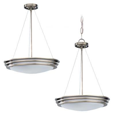 Sea Gull Lighting 69152BLE-962 Pendant Fluorescent Two-Light Brushed Nickel Finis