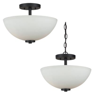 Sea Gull Lighting 77160BLE-839 Oslo - Two Light Semi-Flush Mount