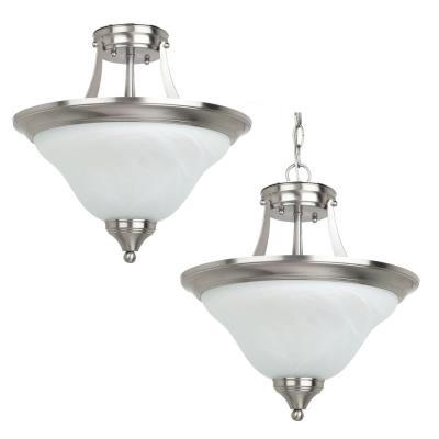 Sea Gull Lighting 77174BLE-962 Brockton - Two Light Convertible Semi-Flush Mount