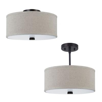 Sea Gull Lighting 77262-710 Dayna - Two Light Convertible Flush Mount