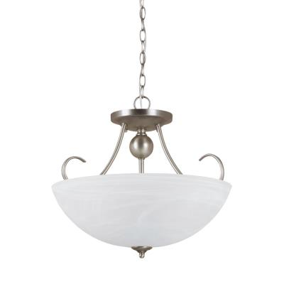 Sea Gull Lighting 77316-965 Lemont - Three Light Convertible Semi-Flush Mount