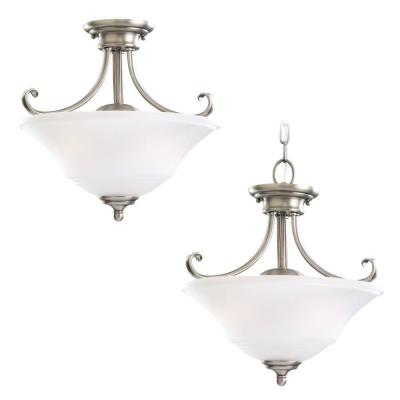 Sea Gull Lighting 77380-965 Two Light Semi Flush Convertible