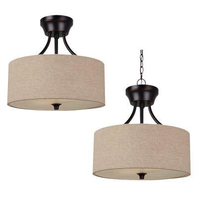 Sea Gull Lighting 77952-710 Stirling - Two Light Convertible Semi-Flush Mount