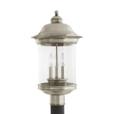 Sea Gull Lighting 82081-965 Hermitage - Three Light Outdoor Post Lantern