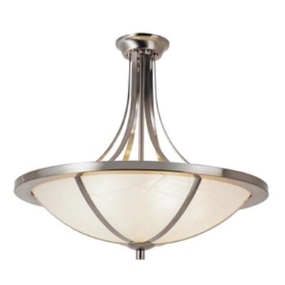 Trans Globe Lighting 10122 BN Cross Trim - Six Light Semi-Flush Mount