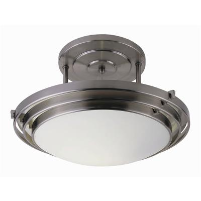 Trans Globe Lighting 2482-1 BN One Light Semi-Flush Mount
