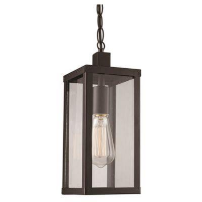 Trans Globe Lighting 40756 BK Oxford   14.25u0026quot; One Light Outdoor  Hanging Lantern