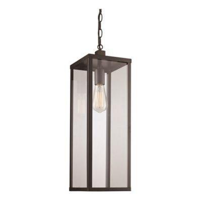 Trans Globe Lighting 40758 BK Oxford   20.25u0026quot; One Light Outdoor  Hanging Lantern
