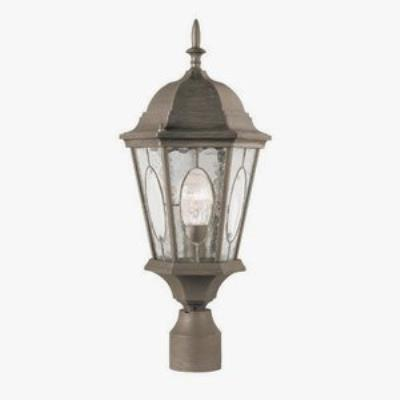 Trans Globe Lighting 4716 Watered Windows - One Light Outdoor Post Mount
