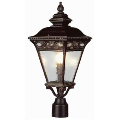 Trans Globe Lighting 50514-1 BK Braided - Three Light Post