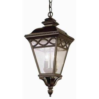 Trans Globe Lighting 50516 BK Two Light Outdoor Medium Hanging Mount