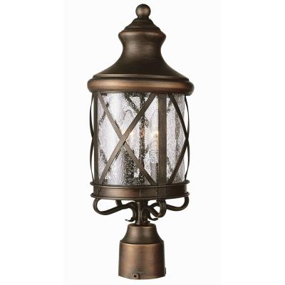 Trans Globe Lighting 5123 ROB Three Light Outdoor Post Mount