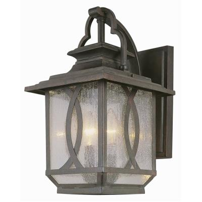 Trans Globe Lighting 5192 BRT Estate - Three Light Crossed Curve Large Wall Mount