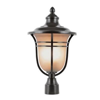 Trans Globe Lighting 5705 Amber Drop One Light Outdoor Post Lantern