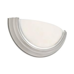 One Light Half Round Wall Sconce