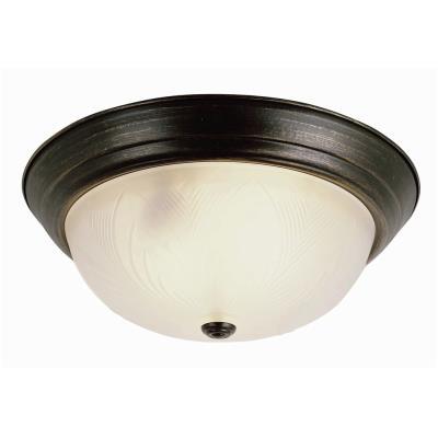 Trans Globe Lighting 58802 Back To Basics - Three Light Flush Mount