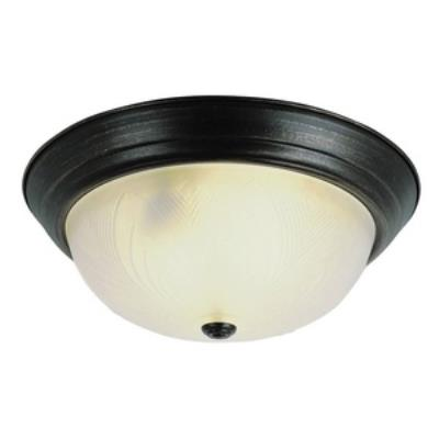 Trans Globe Lighting 58802 PB Three Light Flush-Mount