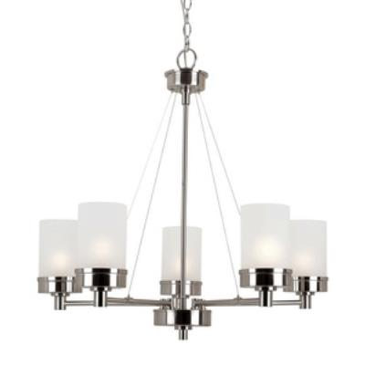 Trans Globe Lighting 70338 BN Urban Swag - Five Light Chandelier
